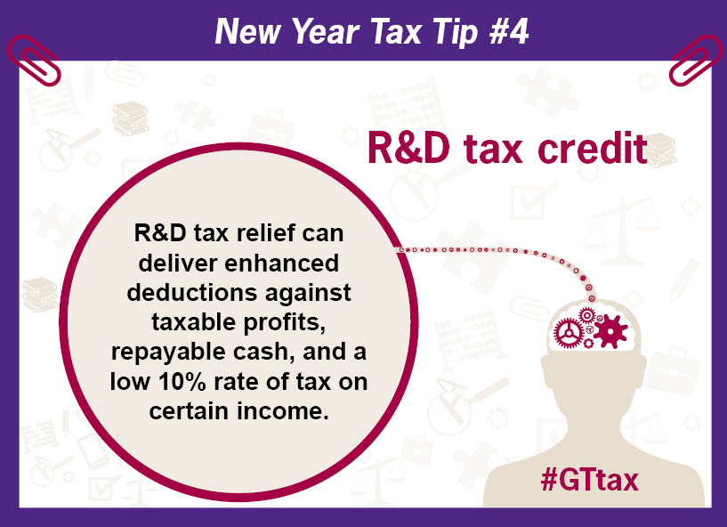 R and D tax credit